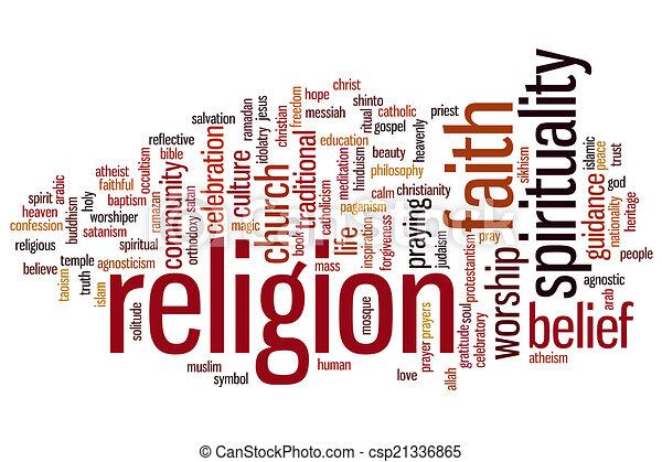 religione, parola, nuvola - csp21336865