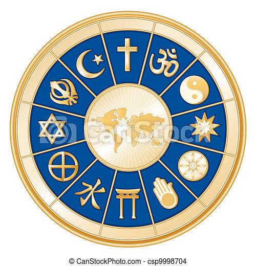 religioni, mappa, mondo - csp9998704
