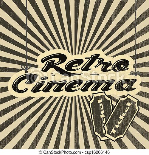 retro, cinema - csp16206146