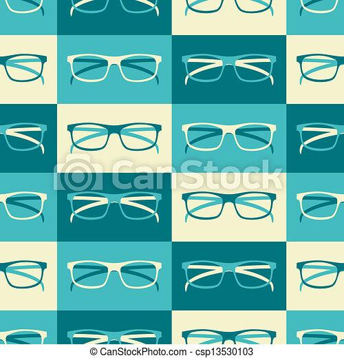 retro, fondo, occhiali - csp13530103