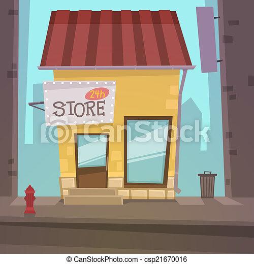 retro, negozio - csp21670016