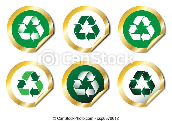 riciclare, adesivi - csp6578612