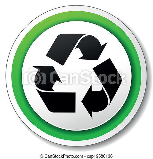 riciclare simbolo, vettore, icona - csp19586136