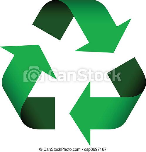 riciclare simbolo, vettore - csp8697167