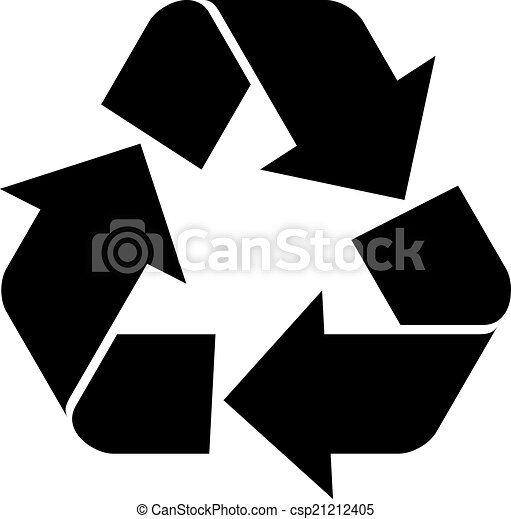 riciclare simbolo, vettore - csp21212405
