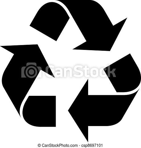 riciclare simbolo, vettore - csp8697101