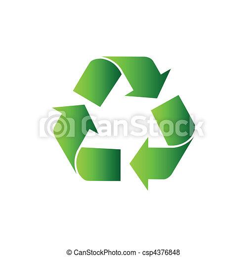 riciclare simbolo, vettore - csp4376848