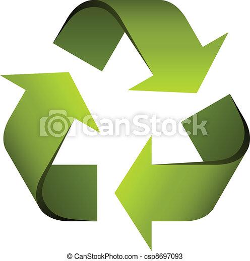 riciclare simbolo, vettore - csp8697093
