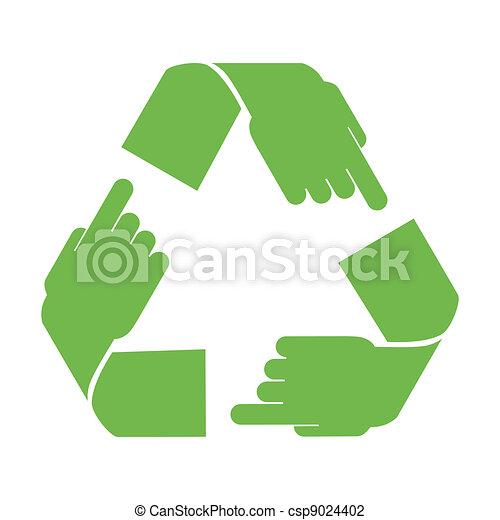 riciclare, vettore, simbolo - csp9024402