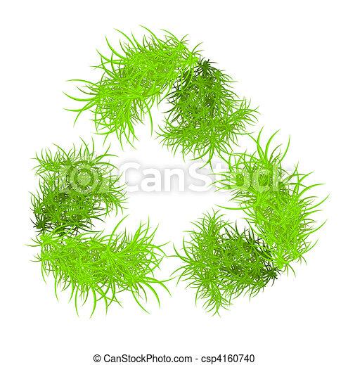 riciclare, vettore, simbolo - csp4160740