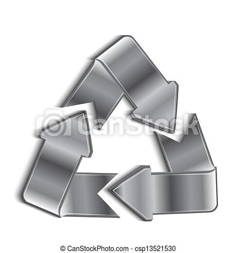 riciclare, vettore, simbolo - csp13521530