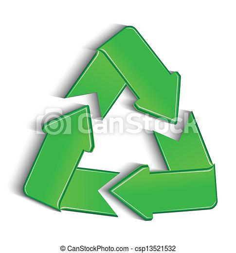 riciclare, vettore, simbolo - csp13521532