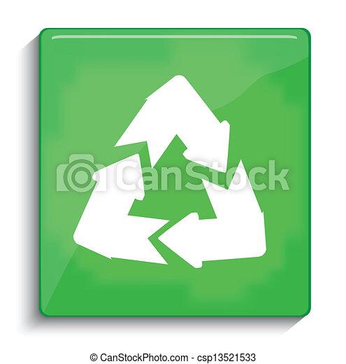 riciclare, vettore, simbolo - csp13521533