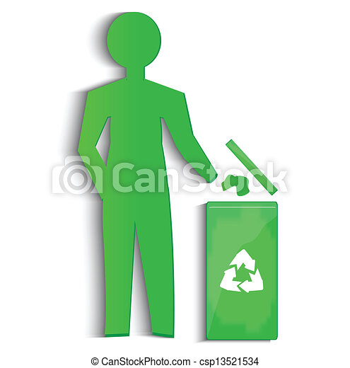 riciclare, vettore, simbolo - csp13521534