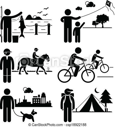 ricreativo, esterno, ozio, persone - csp18922188