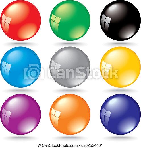 riflessione, colorare, finestra, bolle, baluginante, 3d - csp2534401