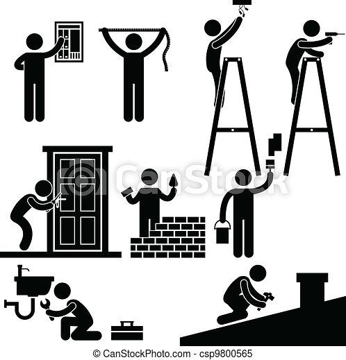 riparare, quotazione, simbolo, uomo tuttofare - csp9800565