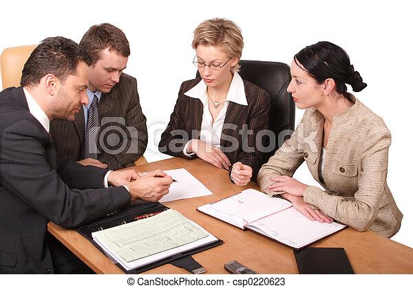 riunione, affari - csp0220623