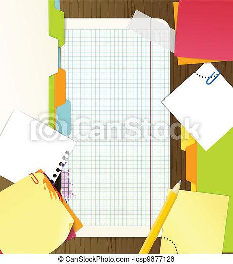 roba, fondo, ufficio - csp9877128