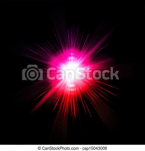 rosa, luce, vettore, effect., bagliore - csp15043008