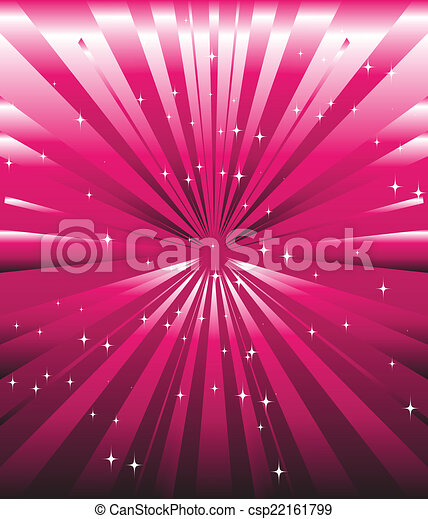 rosa, magenta, stelle, sfavillante, raggio - csp22161799