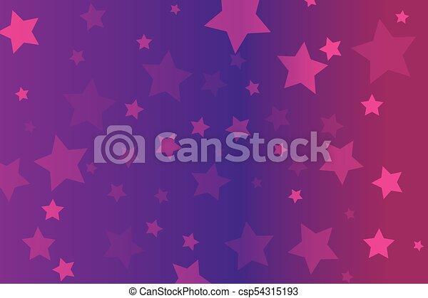 rosa, stelle, fondo - csp54315193