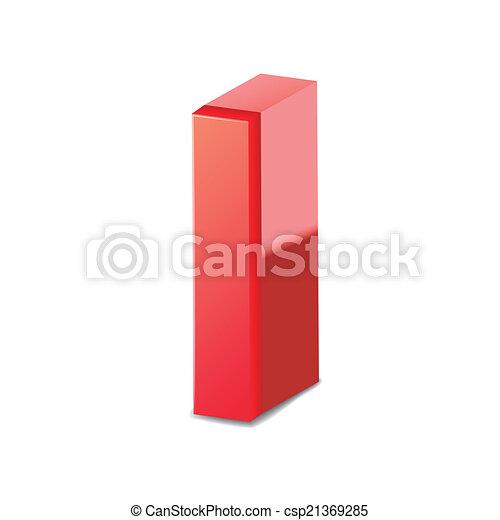 rosso, 3d, lettera - csp21369285