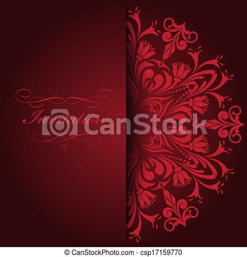 rosso, invito - csp17159770
