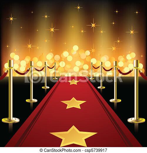 rosso, stelle, moquette - csp5739917