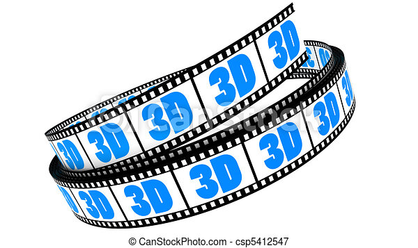 rotolato, film, 3d - csp5412547