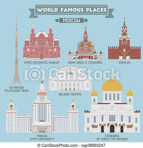 russia, famoso, locali, mosca - csp38993247