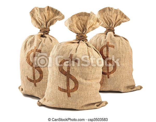 sacchi soldi - csp3503583