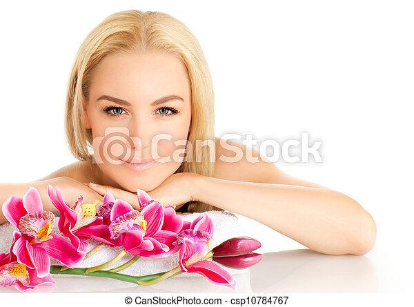 salone, ragazza, carino, terme - csp10784767