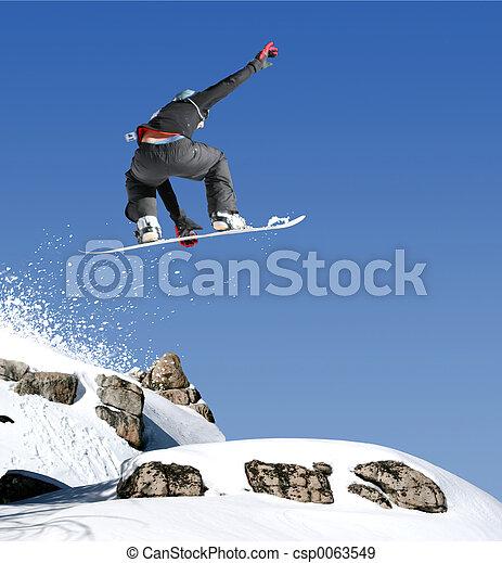 saltare, snowboarder - csp0063549