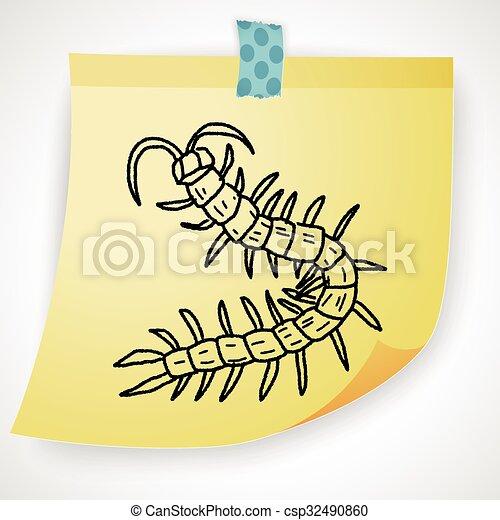 scarabocchiare, centopiedi - csp32490860