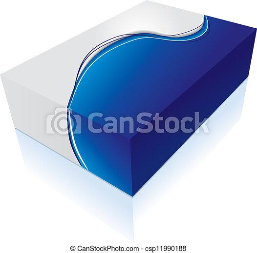 scatola, 3d, icona - csp11990188