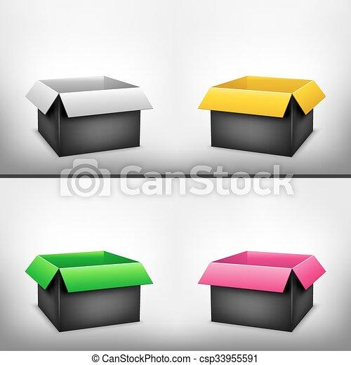 scatola, 3d, nero, variopinto - csp33955591