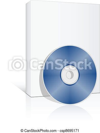 scatola, compatto, vettore, disco, 3d - csp8695171