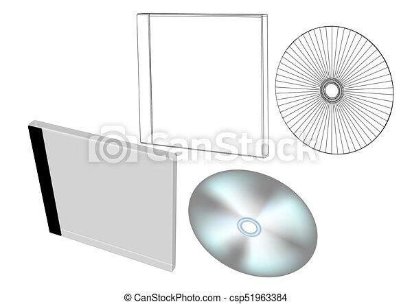 scatola, disco - csp51963384