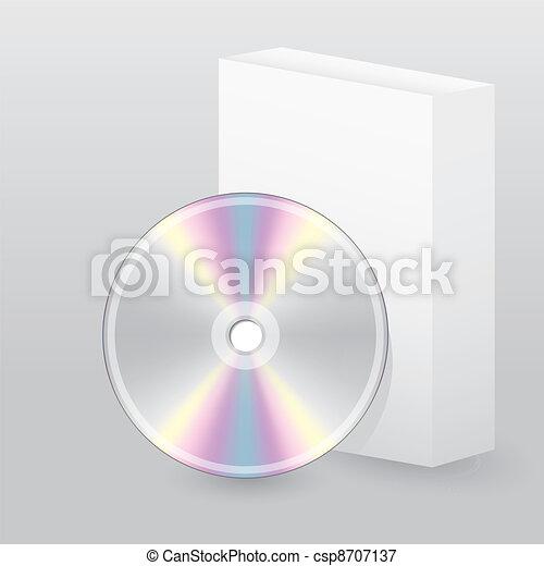 scatola, disco, vuoto - csp8707137