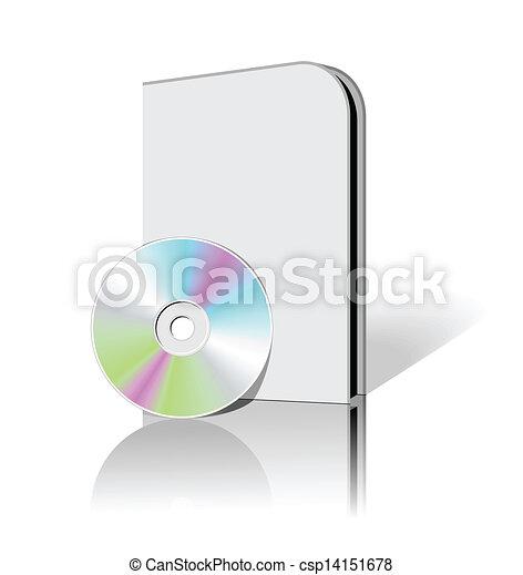 scatola, dvd, cd - csp14151678