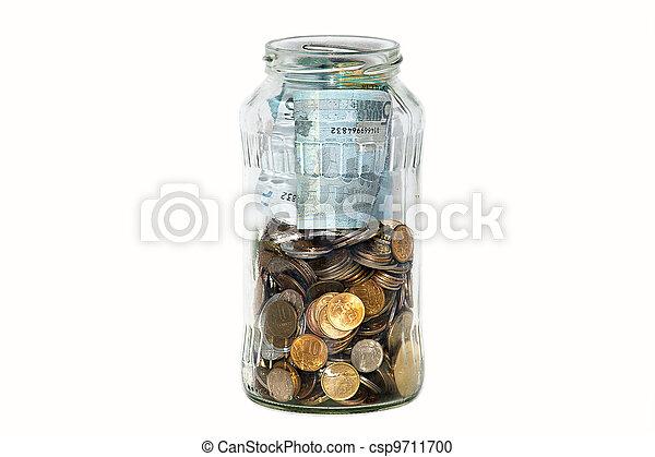 scatola, moneta, classico - csp9711700