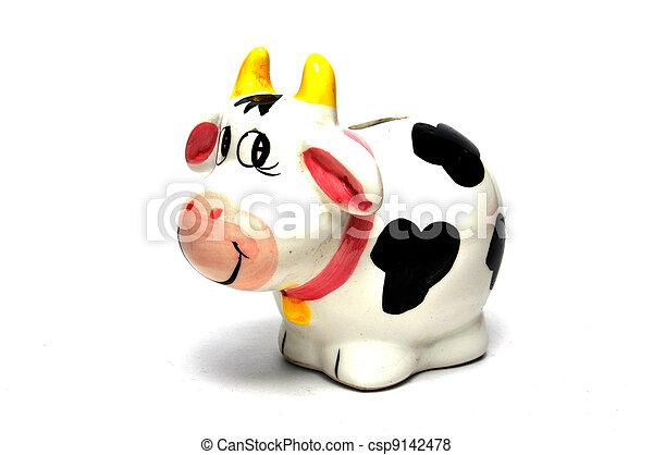 scatola, moneta, mucca - csp9142478