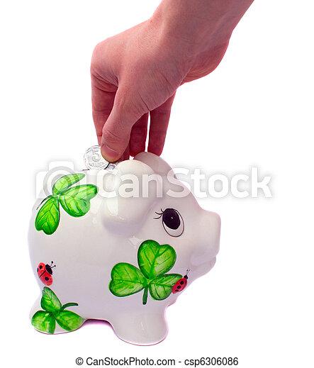 scatola, pig-coin - csp6306086