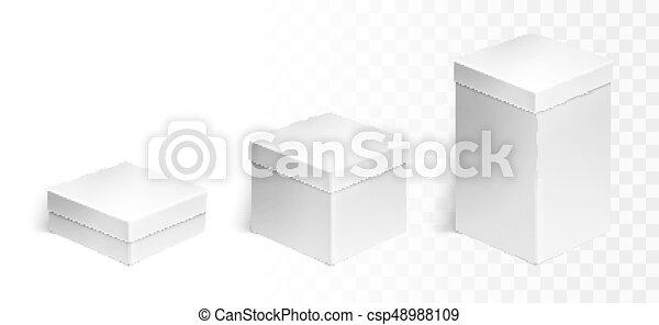 scatole, set, tre - csp48988109