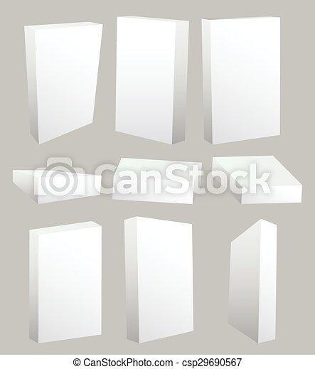 scatole, set, vuoto - csp29690567