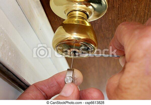 scegliere, fabbro, serratura - csp6613828