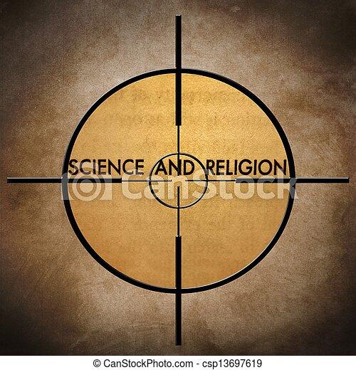 scienza, bersaglio, religione - csp13697619