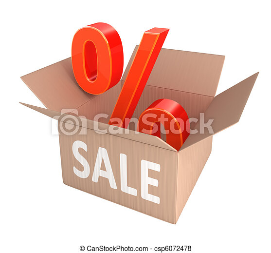 scontare, percento, vendita - csp6072478