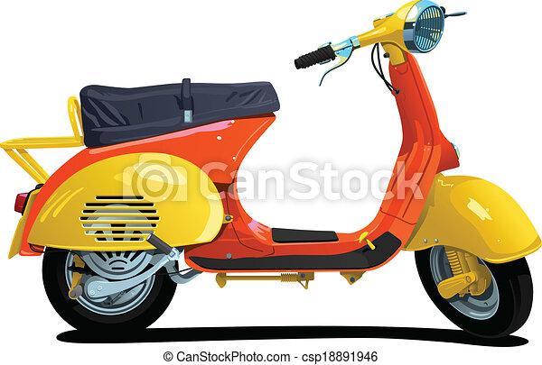 scooter., retro - csp18891946